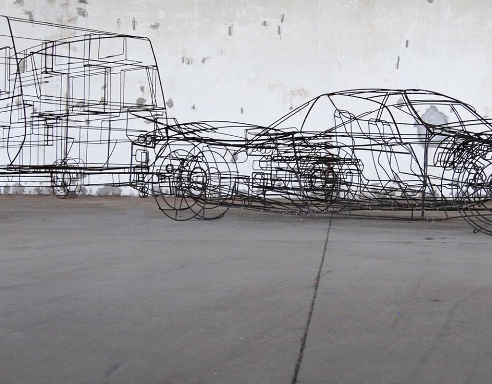 Michele D'Agostino Titolo ferrari caravan Anno 2010 Misure 1000x240x110 Materiali ferro