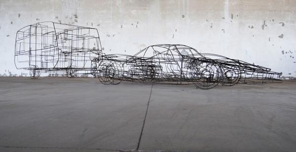 Autore-Michele-DAgostinoTitolo-Ferrari-Caravan-Misure-cm-1000x240x110-Materiale-ferro-Anno-2010